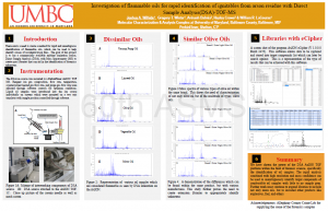 Investigation of Flammable Oils for Rapid Identification of Ignitables from Arson Residue with Direct Sample Analysis (DSA)-TOF-MS