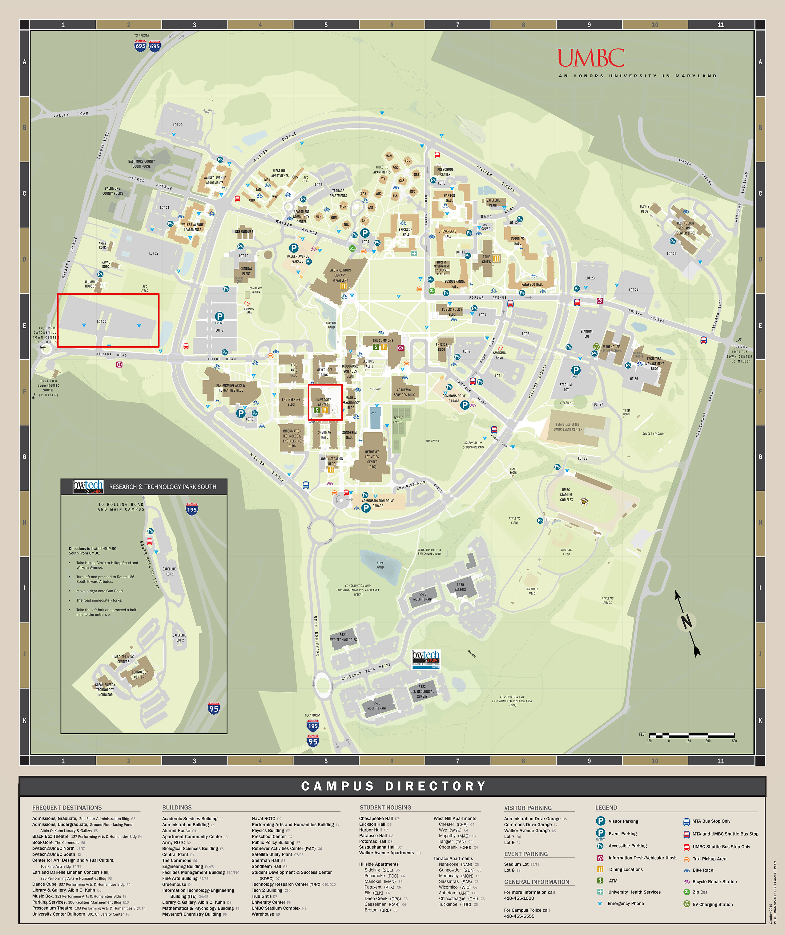 Umbc Parking Map Maps and Directions   Molecular Characterization and Analysis